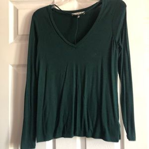 Strappy front long sleeve